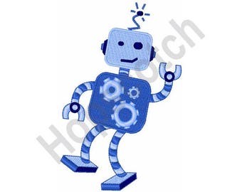 Dancing Robot - Machine Embroidery Design