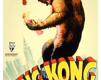 KK02 Vintage King Kong Movie Poster Print