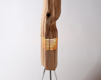 Modern Lighting Wood Light Sculpture