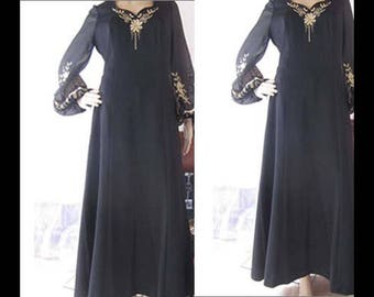Vintage 70s Maxi dress dress buying robe dress M