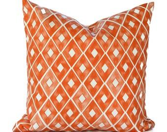 Orange Pillow Covers ANY SIZE Decorative Pillow Cover Orange Pillow Premier Prints Trillion Monarch