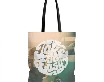 Retro Vw Van Take It Easy Tote Bag