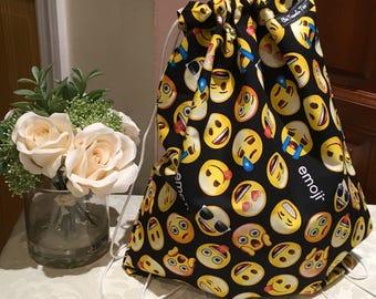 Drawstring Bag (1X) emoji pattern