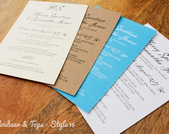 Classic wedding invitations with sending Envelopes