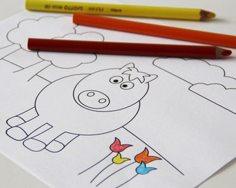 Printable coloring pages - farm animals