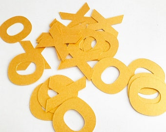 Gold XOXO Confetti - Valentines -wedding decor - Table Scatter - Free Shipping