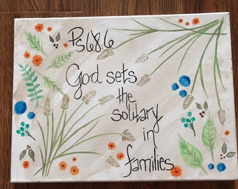 God sets the solitary in families.