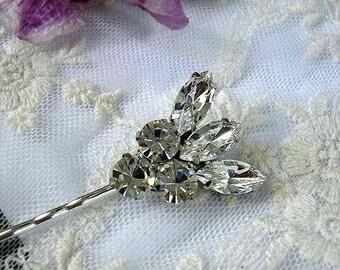 BRIDAL bridesmaid Rhinestone hair pins Head Piece  vintage style  wedding hair ACCESSORIES