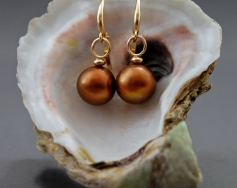 Naama - OOAK Pearl Statement Earrings, pearl earrings, dangle earrings, leverback earrings, pearl jewelry, anniversary gift for her, woman