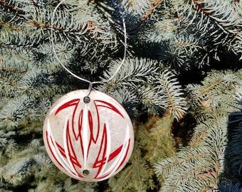 Pinstriped ornament