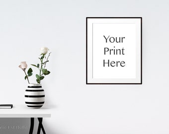 Ready to use Range - Styled Stock Photography - Frame mockup - Add your Print - Chic Black and White - Professional and modern stock photo