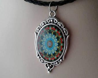 Abstract Necklace,Mosaic,Tribal