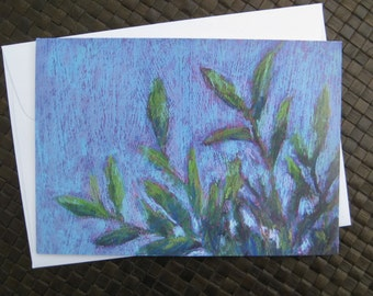 Leaves note cards, Set of 8 cards with envelopes