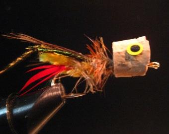 Grasshopper fly, also a popper,  Woodys struggling hopper popper