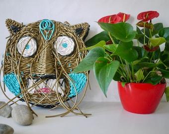 Scoubidous wire weaving cat mask