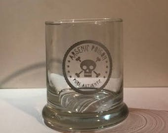 Arsenic Poison drinking glass tumbler