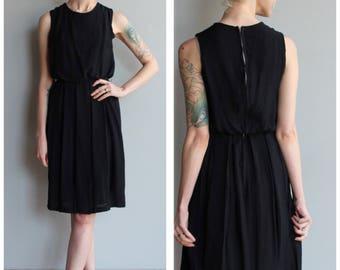 1950s Dress // Little Black Dress // vintage 50s dress