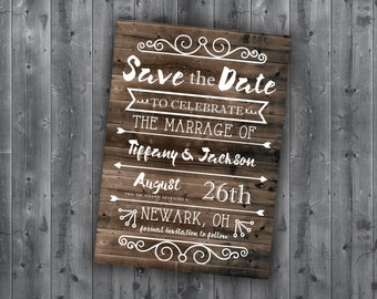 Rustic Country Save the Date Cards, Wedding Save The Date, Save-The-Date Postcard, Wedding Announcement, Barn Wood, Postcard, Summer