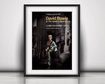 David Bowie 1973 The Last Ziggy Stardust Concert Poster Print Olivia Valentine© 2017 NEW Exclusive
