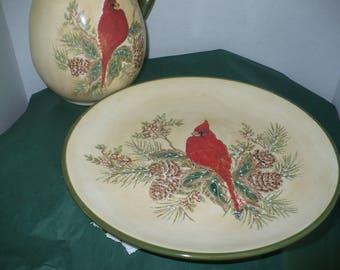 Woodland Winter Cardinals