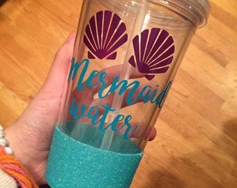 Glitter mermaid tumbler!