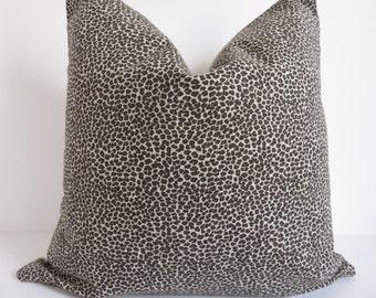 Leopard Pillow Cover,18x18, 20x20, Leopard Pillow, Animal Pillow Cover, Brown Pillow, Beige Pillow, Pillow, Beige Pillow Cover