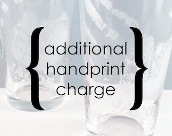 Frais supplémentaires auprès pour annonces Custom empreinte de la main