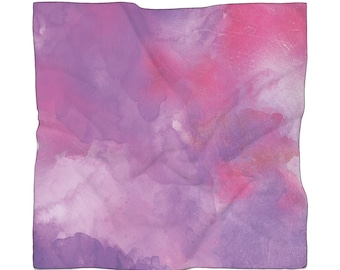 Scarf Purple And Fuscia Overlay Watercolor Woman Mothers Day Teacher Gift
