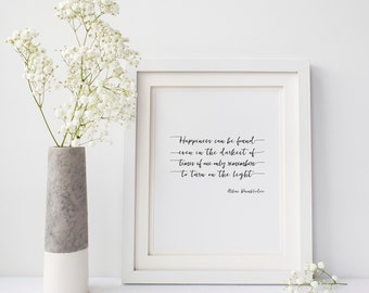 Harry Potter Quote, Dumbledore Quote, Happiness Can Be Found In the Darkest of Times Printable, Albus Dumbledore print, Harry Potter Quote