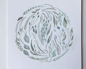 Murcury Floral Watercolor