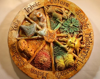 Wheel of the year Incense stick holder, Pagan, wiccan, beltaine, imbolc, midsummer, mabon