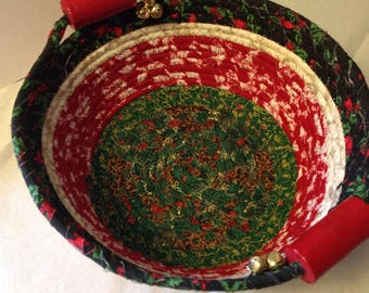 Christmas theme fabric bowl.