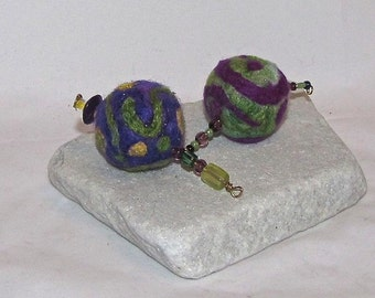Needle Felted Decorative Bulbs with Beaded Accents