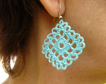 PDF Tutorial Crochet One Pattern and Two Design Dangle Earrings -24