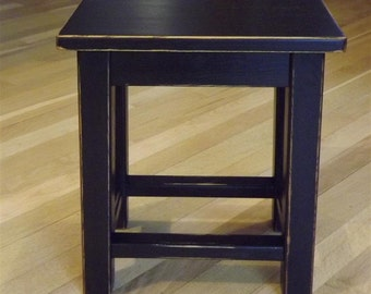 Reclaimed wood/ farmhouse/ Primitive/ distressed/ black/ counter stool