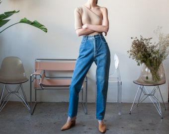 high rise tapered jeans / classic tapered leg jeans / US 11 / 28 W / 3631t / B10