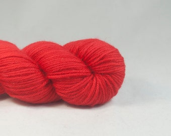 Backfire Hand Dyed Superwash Merino DK Yarn Red