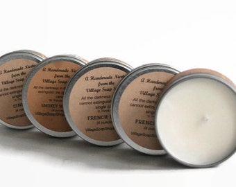 Maple Soy Candle, 100% Soy Wax Candle, 4oz, Travel Tin, Gift Candle For Any Occasion, Gift Basket Item, MAPLE SOY