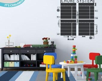 Chore System -- Chalkboard Vinyl Wall Decal