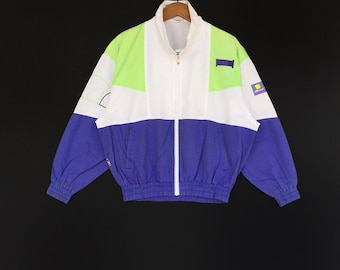 Rare!! Ellese Multicolor Big Logo Spellout Sweater Medium Size