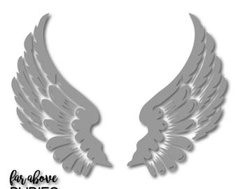 Wings Feathers - SVG, EPS, dxf, png, jpg digital cut file for Silhouette or Cricut Angel Bird