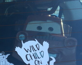 Wild Child On Board Where the Wild Things Are Car Decal Baby on Board