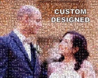 Wedding Themed Custom Photomosaic