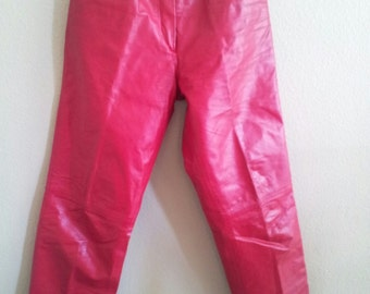 Beautiful Red Leather Pants by c.j. Todd for Saks Fifth Avenue  Size 7/8