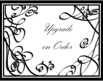 Special listing to add an upgrade to your order