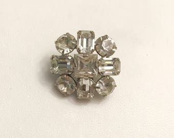 Austrian Vintage Rhinestone Mini Brooch Pin