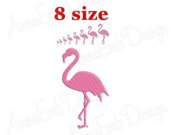 Flamingo Embroidery design. Flamingo Silhouette. Flamingo mini Embroidery. Flamingo design. Flamingo Embroidery. Machine Embroidery Design.