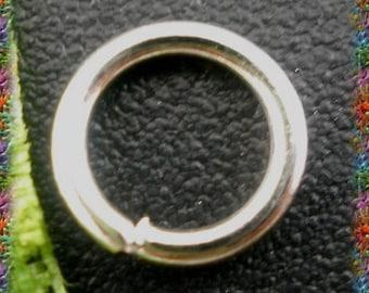 400 rings 6 mm x 1 mm silver dot or Matt silver
