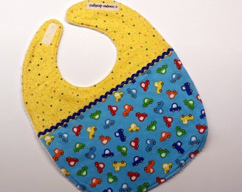 Baby Bib-Baby Boy Bib-Cars-Baby Shower Gift-Toddler Bib