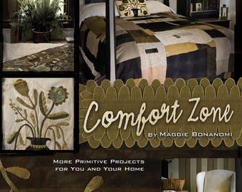 Comfort Zone - Book by Maggie Bonanomi - Rug Hooking, Wool Applique, Clothing patterns!! OOP - NEW